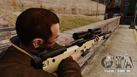 Rifle de sniper L115A1 AW para GTA 4 segundo screenshot
