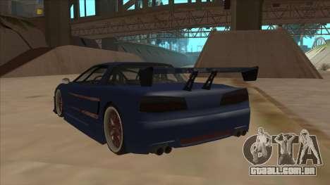 Infernus 2013 para GTA San Andreas vista traseira