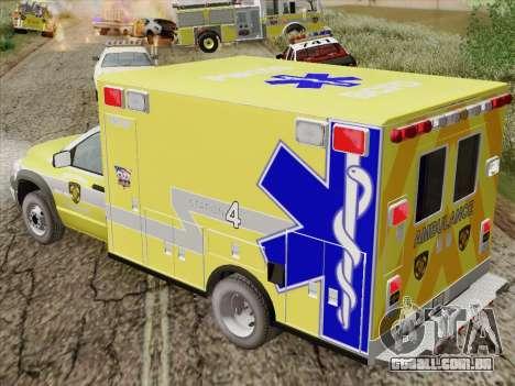 Dodge Ram Ambulance BCFD Paramedic 100 para vista lateral GTA San Andreas