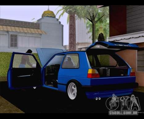 Volkswagen Golf Mk2 para GTA San Andreas esquerda vista