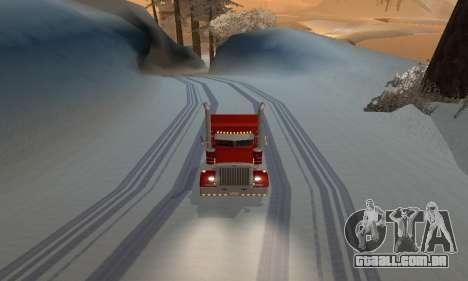 Mod de inverno para SA: MP para GTA San Andreas terceira tela