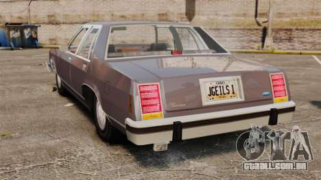 Ford LTD Crown Victoria para GTA 4 traseira esquerda vista