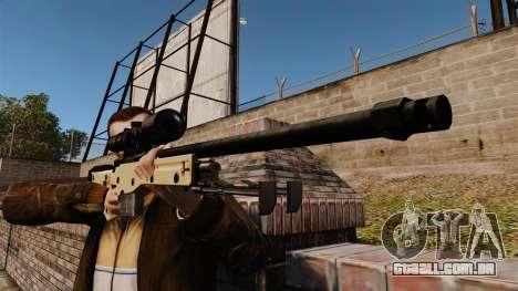 Rifle de sniper L115A1 AW para GTA 4 terceira tela