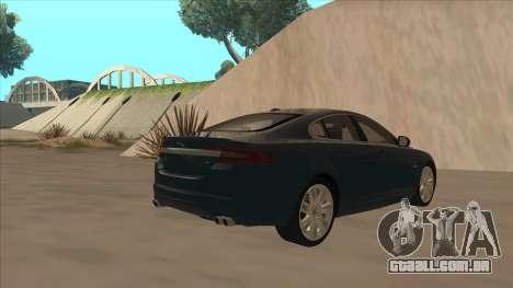 Jaguar XFR 2010 v1.0 para GTA San Andreas vista direita