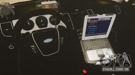 Ford Taurus Police Interceptor 2013 LCPD [ELS] para GTA 4 vista de volta