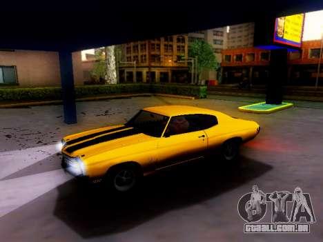 Chevrolet Chevelle SS 1970 para GTA San Andreas vista direita