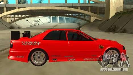 Toyota Chaser JZX100 DriftMuscle para GTA San Andreas traseira esquerda vista