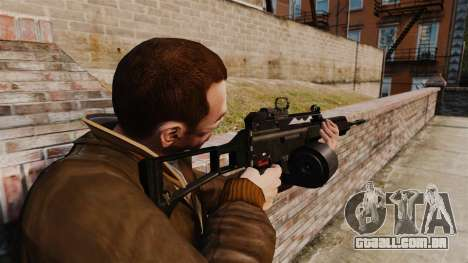 Fuzil de assalto de H & K MG36 v4 para GTA 4 segundo screenshot