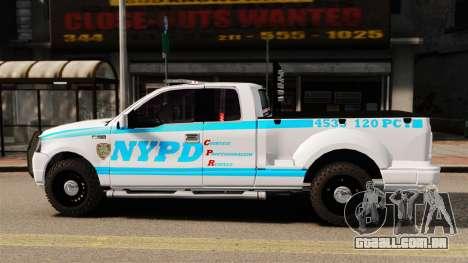 Ford F-150 v3.3 NYPD [ELS & EPM] v3 para GTA 4 esquerda vista