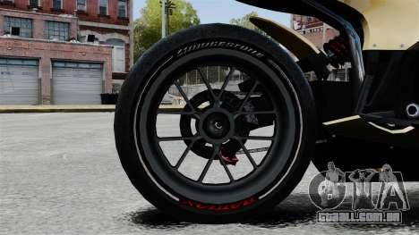 Ducati 848 para GTA 4 vista de volta