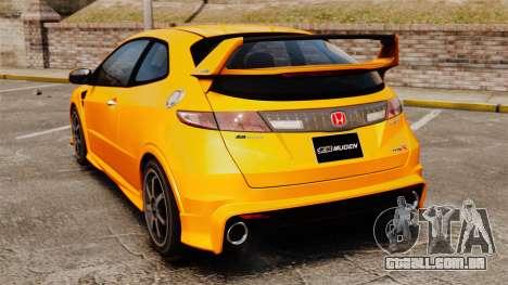Honda Civic Type-R (FN2) para GTA 4 traseira esquerda vista