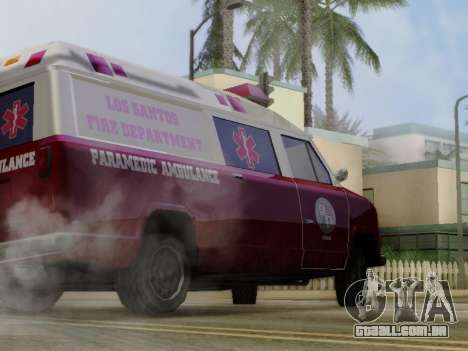 Vapid Ambulance 1986 para GTA San Andreas vista traseira