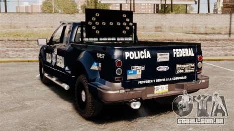 Ford F-150 De La Policia Federal [ELS & EPM] v1 para GTA 4 traseira esquerda vista