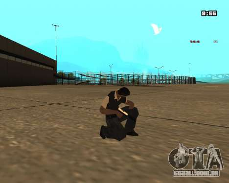 White Chrome Silenced para GTA San Andreas segunda tela