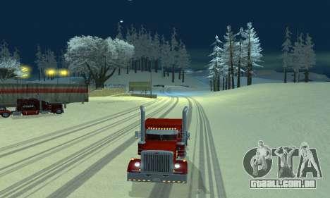 Mod de inverno para SA: MP para GTA San Andreas segunda tela