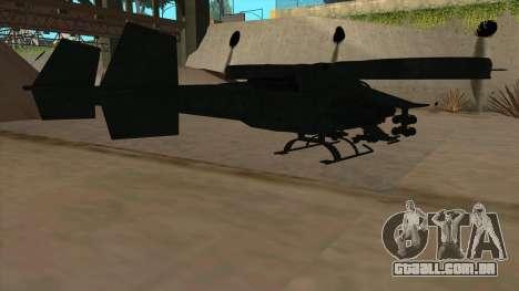 AT-99 Scorpion Gunship from Avatar para GTA San Andreas vista direita