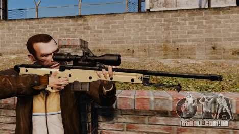 Rifle de sniper L115A1 AW para GTA 4