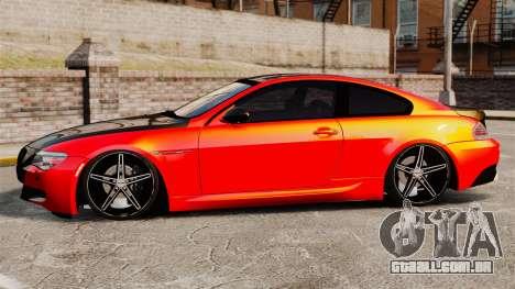 BMW M6 para GTA 4 esquerda vista