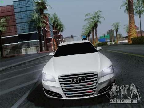 Audi A8 Limousine para GTA San Andreas vista traseira
