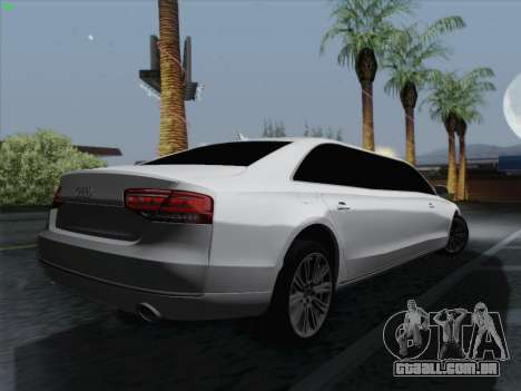 Audi A8 Limousine para GTA San Andreas vista direita