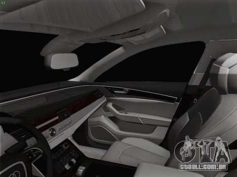 Audi A8 Limousine para GTA San Andreas interior