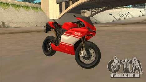 Ducatti Desmosedici RR 2012 para GTA San Andreas