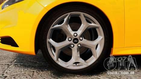Ford Focus ST 2013 para GTA 4 vista de volta