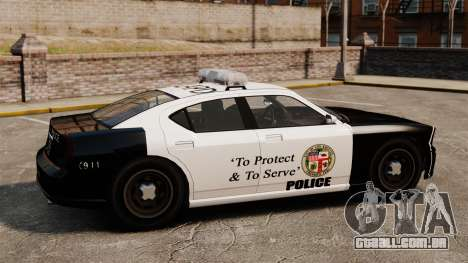 Buffalo policial LAPD v2 para GTA 4 esquerda vista