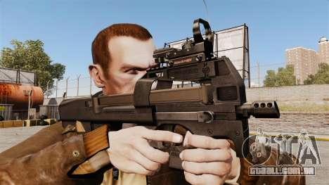 Submetralhadora FN P90 para GTA 4 terceira tela