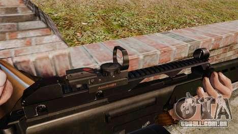 Fuzil de assalto de H & K MG36 v4 para GTA 4 por diante tela