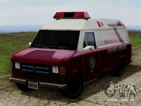 Vapid Ambulance 1986 para GTA San Andreas vista direita