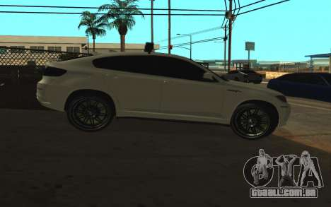 BMW X6 M com piscar luzes PPP para GTA San Andreas traseira esquerda vista