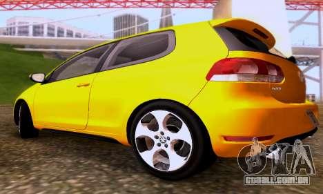 Volkswagen Golf 6 GTI para GTA San Andreas vista traseira