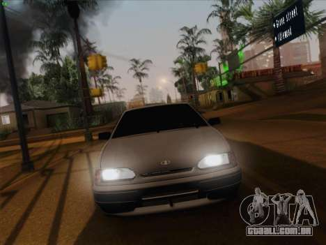 ВАЗ 2114 para GTA San Andreas vista superior