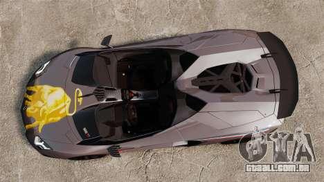 Lamborghini Aventador J Big Lambo para GTA 4 vista direita