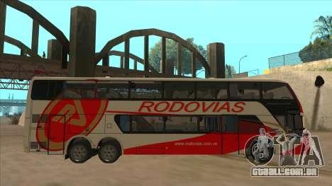 Marcopolo DD800 v3 para GTA San Andreas traseira esquerda vista