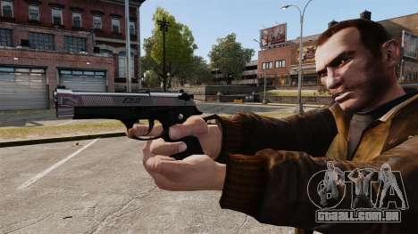 Beretta cromado para GTA 4 terceira tela