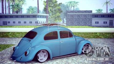 Volkswagen Beetle 1966 para GTA San Andreas vista direita