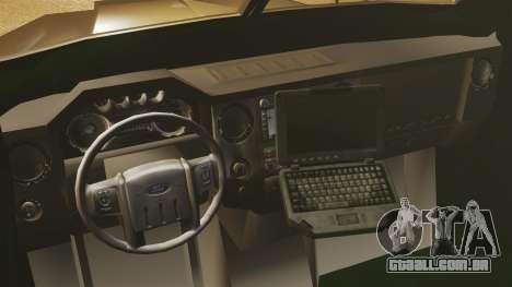 Lenco Bearcat blindado LSPD GTA V para GTA 4 vista interior