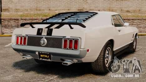 Ford Mustang Mach 1 Twister Special para GTA 4 traseira esquerda vista