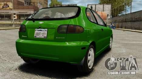 Daewoo Lanos FL 2001 US para GTA 4 vista direita