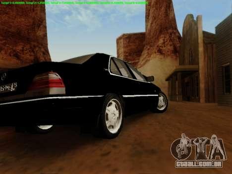 Mercedes-Benz W140 para GTA San Andreas traseira esquerda vista