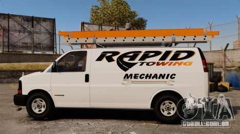 GMC Savana 2500 Rapid Towing Mechanic para GTA 4 esquerda vista
