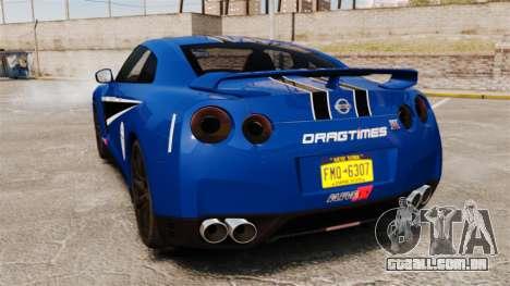 Nissan GT-R 2012 Black Edition AMS Alpha 12 para GTA 4 vista direita