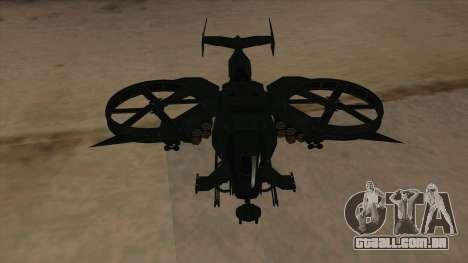 AT-99 Scorpion Gunship from Avatar para GTA San Andreas vista interior
