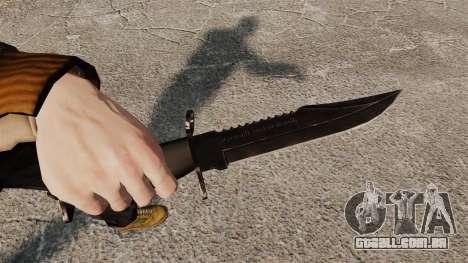 A faca de Alabama Slammer preto para GTA 4