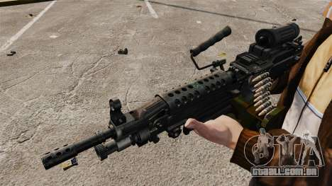 Luz metralhadora M249 SAW para GTA 4 por diante tela