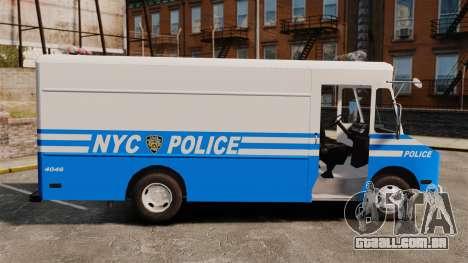 Chevrolet Step-Van 1985 NYPD para GTA 4 esquerda vista