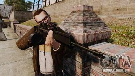 Fuzil de assalto de H & K MG36 v4 para GTA 4 terceira tela