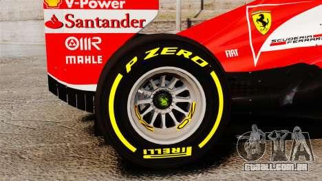 Ferrari F138 2013 v5 para GTA 4 vista de volta